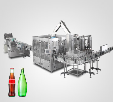 Glass Bottle Water / Carbonated Beverage Filling Machine