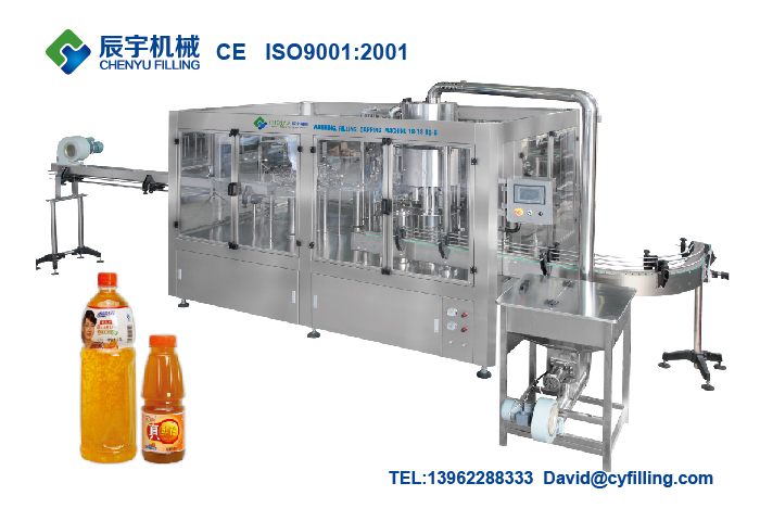 Automatic 3 in 1 juice filling machine