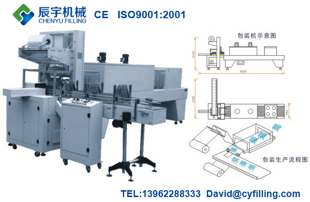 Automatic PE Film Shrink Wrapper Machine