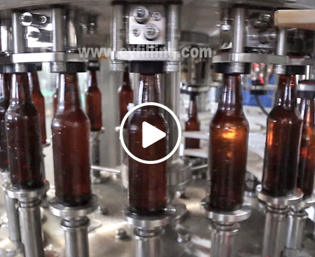 Glass Bottle Beer Filling Production Line video