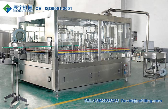 Glass Bottle Water Filling Machine