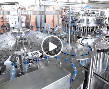 Carbonated Beverage Washing-Filling-Capping Production Line Video