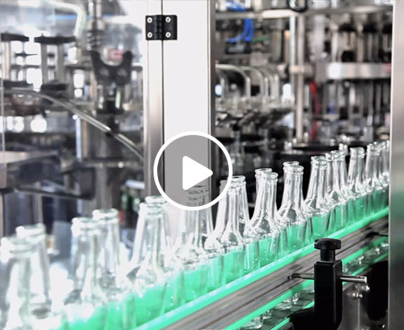 Glass Bottle Steam Beverage Production Line Video
