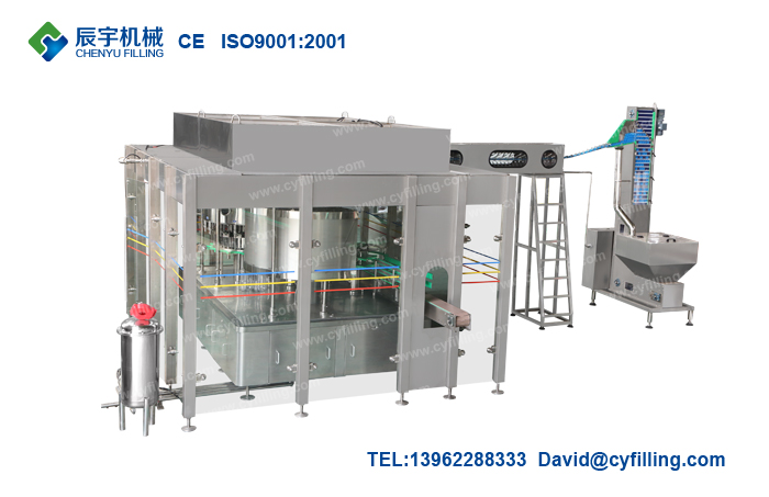 Bottled water filling production equipment