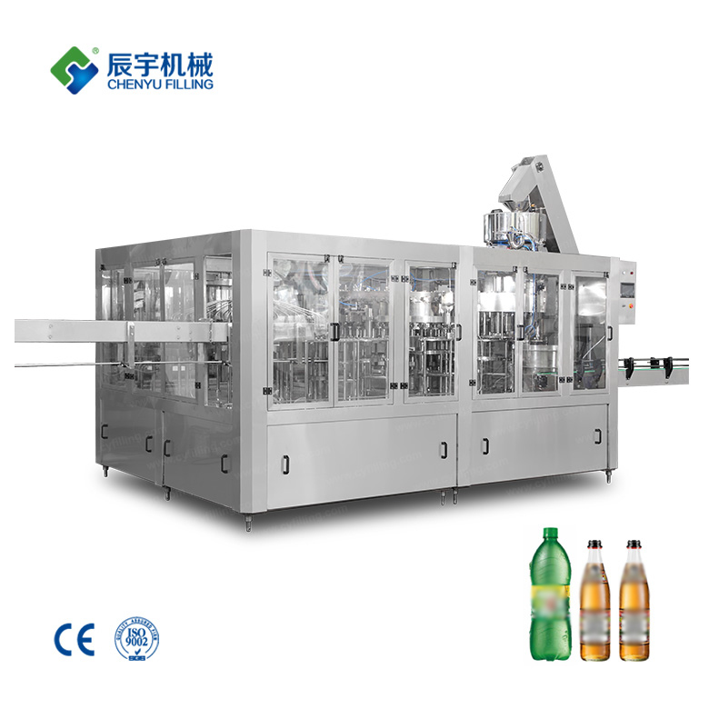 Carbonated beverage bottle production line