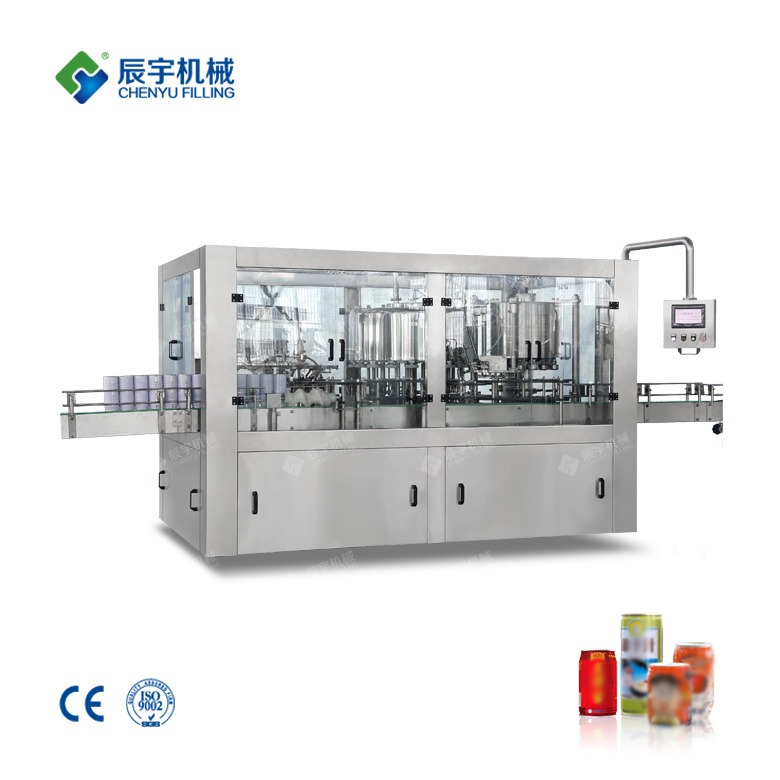 GCF18-18-6 Cans Juice / Tea Beverage Filling Machine