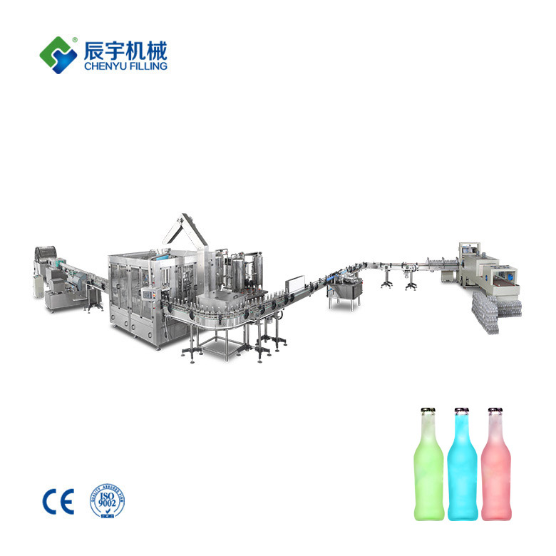Glass Bottle Cocktail Filling Production Line