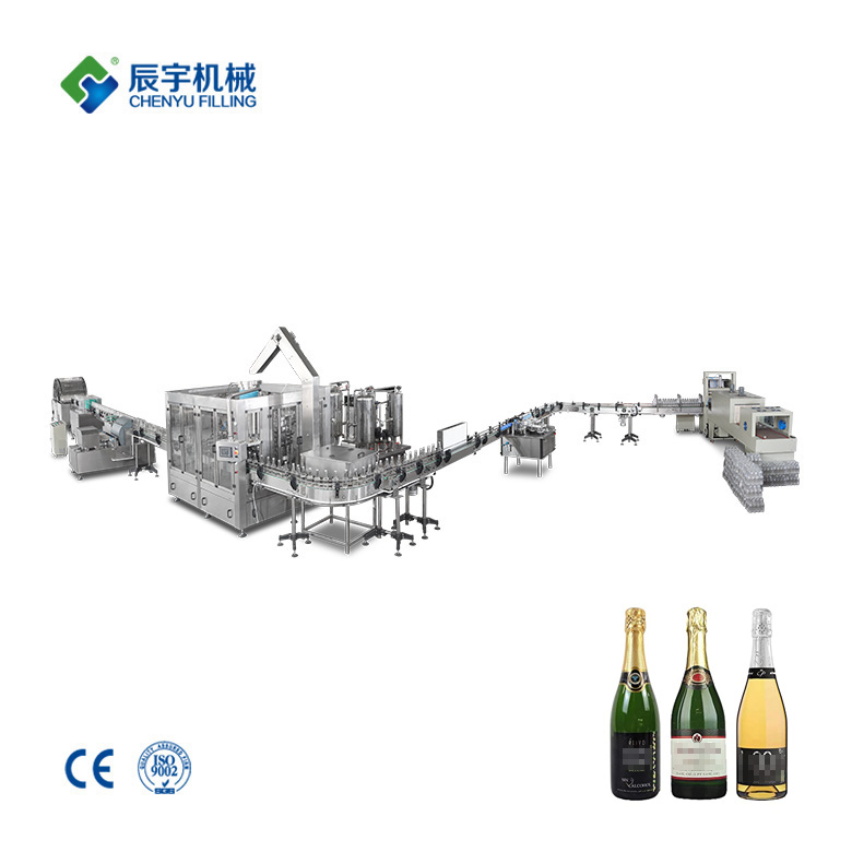 Glass Bottle Sparkling Wine Filling Machine
