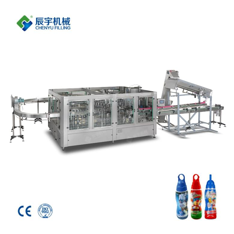 RCGF32-32-10 Shaped Cover Juice Drink Filling Machine