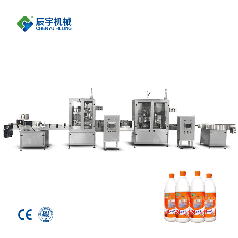 Linear Disinfectant Filling Capping Machine